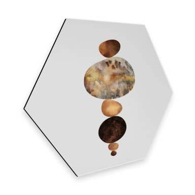 Hexagon - Alu-Dibond Fredriksson - Balance