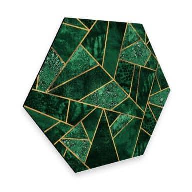 Hexagon - Alu-Dibond Fredriksson - Dunkelgrüner Smaragd