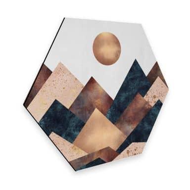 Hexagon - Alu-Dibond Fredriksson - Herbst in den Bergen