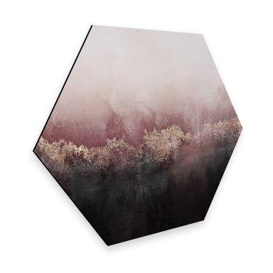 Hexagon - Alu-Dibond Fredriksson - Rosa Himmel