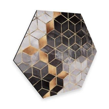 Hexagon - Alu-Dibond Fredriksson - Smoky Cubes