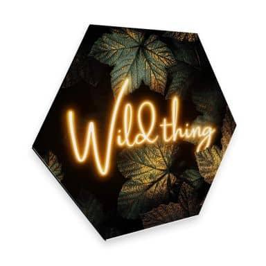 Hexagon - Alu-Dibond Fredriksson - Wild thing