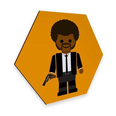 Hexagon - Alu-Dibond Gomes - Pulp Fiction Spielzeug Jules Winnfield
