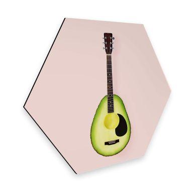 Hexagon - Alu-Dibond - Fuentes - Avocado Gitarre
