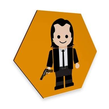 Hexagon - Alu-Dibond Gomes - Pulp Fiction Spielzeug Vincent Vega