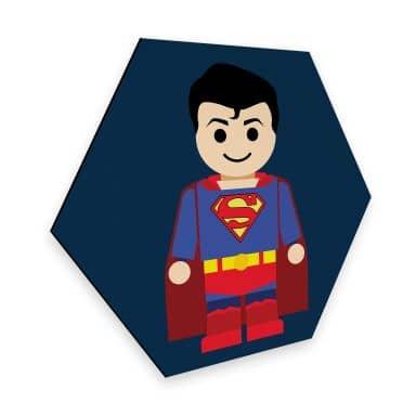 Hexagon - Alu-Dibond Gomes - Superman Spielzeug