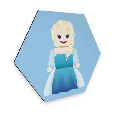 Hexagon - Alu-Dibond Gomes - Elsa Frozen Spielzeug