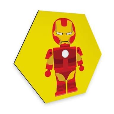 Hexagon - Alu-Dibond Gomes - Iron Man Spielzeug