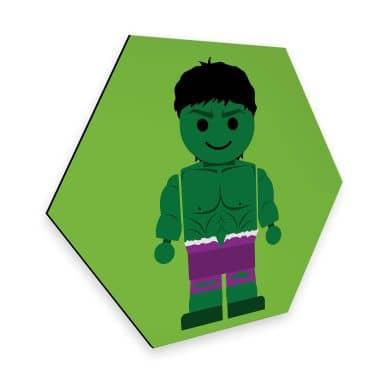 Hexagon - Alu-Dibond Gomes - The Hulk Spielzeug