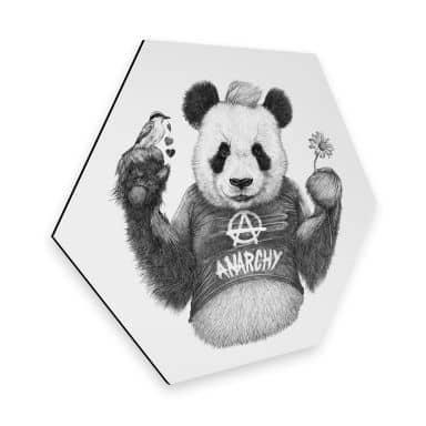 Hexagon - Alu-Dibond Kools - Punk Panda