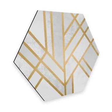 Hexagon - Alu-Dibond - Fredriksson - Goldene Geometry