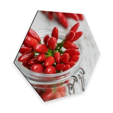Hexagon - Alu-Dibond - Hot Chili