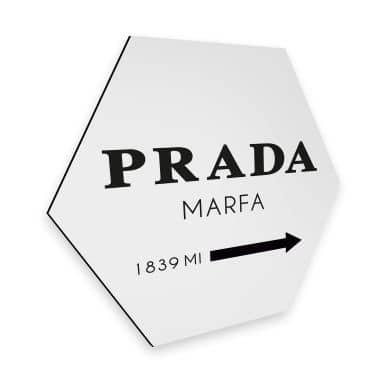 Hexagon alu-dibond - Kvilis - Prada Marfa