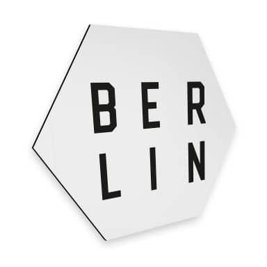 Hexagon alu-dibond - Typography Berlin
