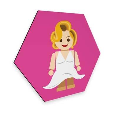 Hexagon - Alu-Dibond Gomes - Marilyn Monroe Spielzeug