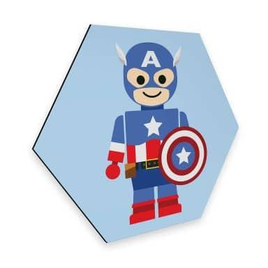 Hexagon - Alu-Dibond Gomes - Captain America Toy