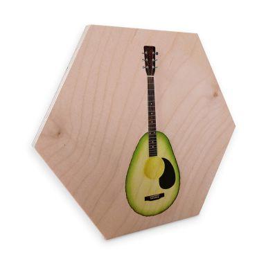 Hexagon - Holz Birke-Furnier - Fuentes - Avocado Gitarre