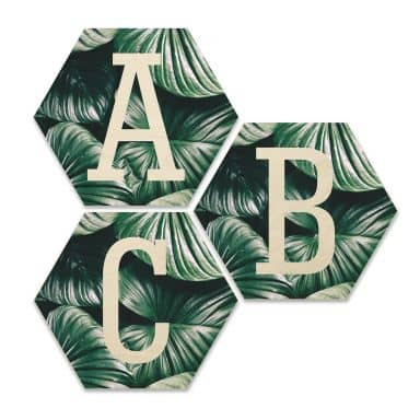 Hexagon - Birch veneer - Urban Jungle Letters