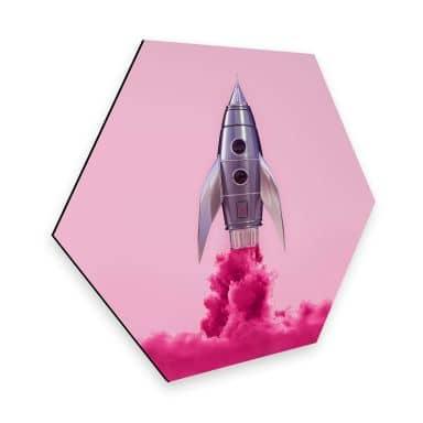 Hexagon - Alu-Dibond Fuentes - Rocket