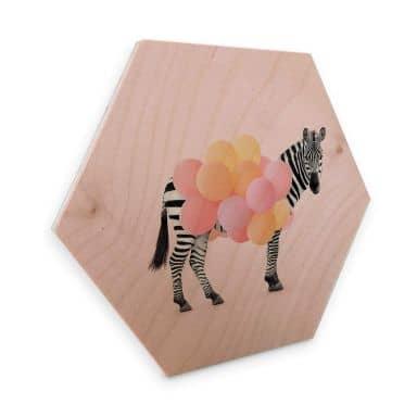 Hexagon Wood - Fuentes - Zebra Balloon