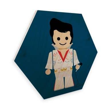Hexagon - Holz Birke-Furnier Gomes - Elvis Spielzeug