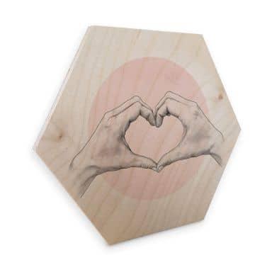Hexagon - Holz Birke-Furnier Graves – Heart in Hand