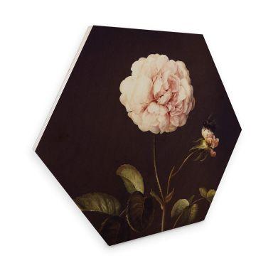 Hexagon - Holz Dietzsch - Essigrose mit Hummel
