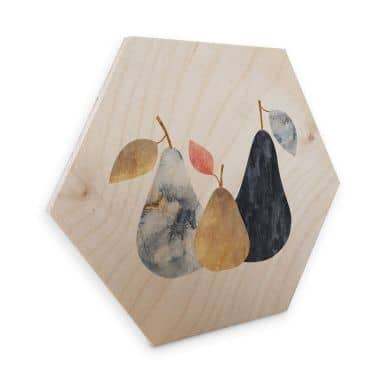Esagoni in legno Fredriksson - Pere colorate