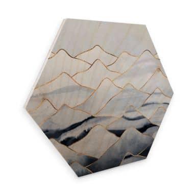 Hexagon - Holz Birke-Furnier Fredriksson - Die Berge