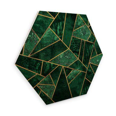 Hexagon - Holz Birke-Furnier Fredriksson - Dunkelgrüner Smaragd