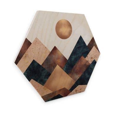 Hexagon - Holz Birke-Furnier Fredriksson - Herbst in den Bergen