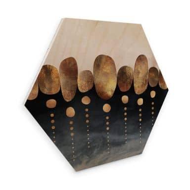 Hexagon - Holz Birke-Furnier Fredriksson - Natürliche Abstraktion