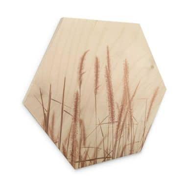 Hexagon Hout Grass at Sea