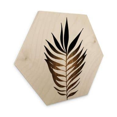 Hexagon Hout Kubistika - Golden Leaf