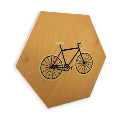 Hexagone - Bois placage de bouleau Kubistika - Bicyclette