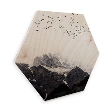 Hexagone - Bois placage de bouleau Kubistika - En haut des montagnes