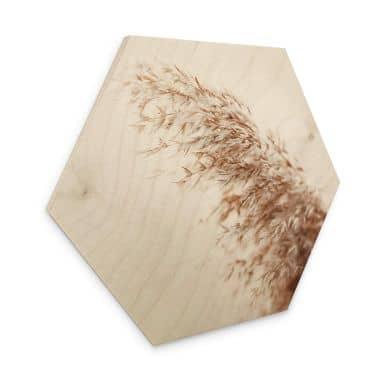 Hexagon - Holz Pampasgras