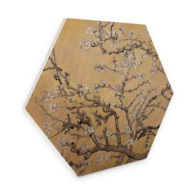 Hexagon Hout van Gogh - Amandelbloesem crème