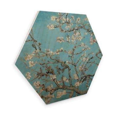 Hexagon Hout van Gogh - Amandelbloesem
