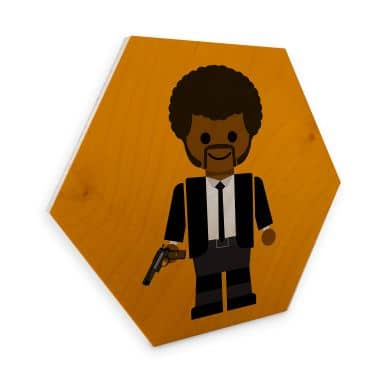 Hexagon - Holz Birke-Furnier Gomes - Pulp Fiction Spielzeug Jules Winnfield
