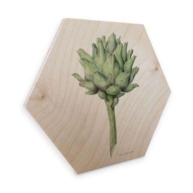 Hexagon - Holz Birke-Furnier Bernard - Artischocke
