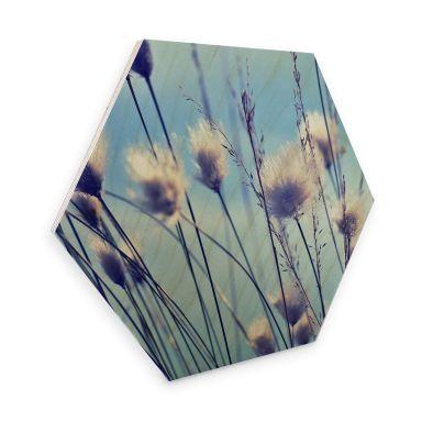 Hexagon - Holz Birke-Furnier Delgado - Wind im Gras