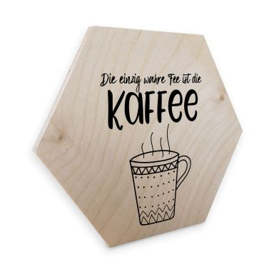 Hexagon - Holz Birke-Furnier Die einzig wahre Fee