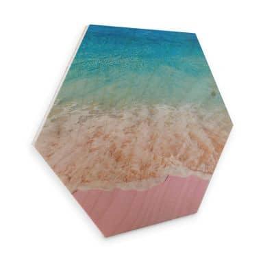 Esagoni in legno Fuentes - Sabbia rosa