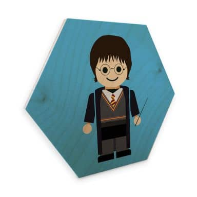 Hexagon - Holz Birke-Furnier Gomes - Harry Potter Spielzeug