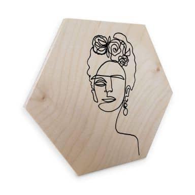 Hexagon Wood - birch veneer - Hariri - Frida Kahlo