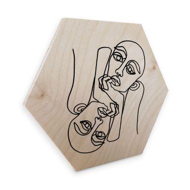 Hexagon - Holz Birke-Furnier Hariri - Ava