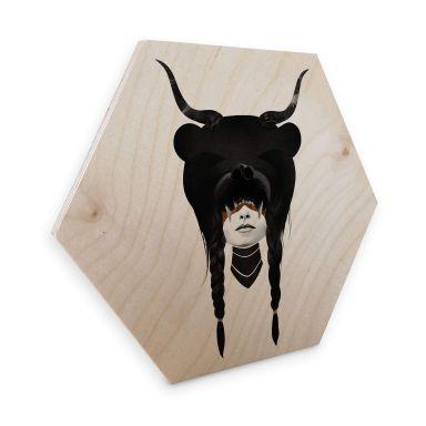 Hexagon - Holz Ireland - Bear Warrior - Bärenkriegerin