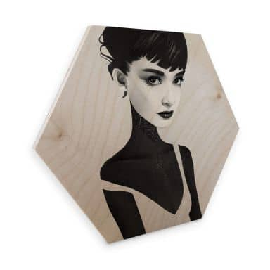 Hexagon - Holz Birke-Furnier - Ireland - Oh Audrey