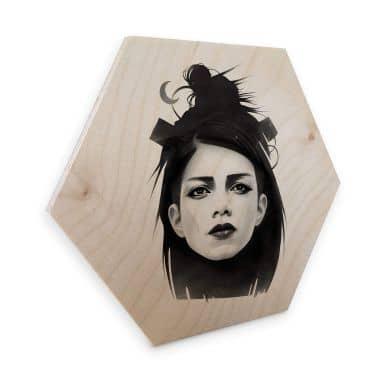 Hexagon - Holz Birke-Furnier Ireland - Undone
